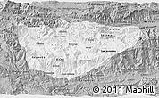 Gray 3D Map of Baja Verapaz