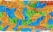 Political 3D Map of Baja Verapaz