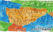 Political Shades 3D Map of Baja Verapaz