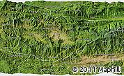 Satellite 3D Map of Baja Verapaz