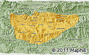 Savanna Style 3D Map of Baja Verapaz