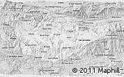 Silver Style 3D Map of Baja Verapaz