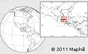 Blank Location Map of Baja Verapaz