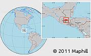 Gray Location Map of Baja Verapaz