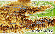 Physical 3D Map of Purulha
