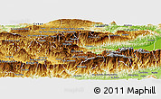 Physical Panoramic Map of Purulha