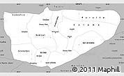 Gray Simple Map of Baja Verapaz