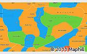 Political Simple Map of Baja Verapaz