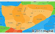 Political Shades Simple Map of Baja Verapaz