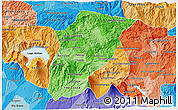 Political Shades 3D Map of Chimaltenango