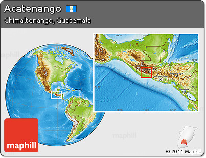 Physical Location Map of Acatenango