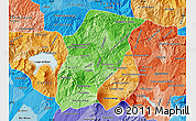 Political Shades Map of Chimaltenango