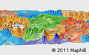 Political Shades Panoramic Map of Chimaltenango