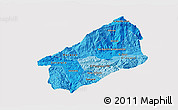Political Shades 3D Map of El Progreso, cropped outside