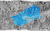 Political Shades 3D Map of El Progreso, desaturated