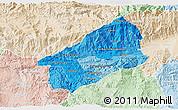 Political Shades 3D Map of El Progreso, lighten