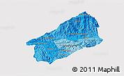 Political Shades 3D Map of El Progreso, single color outside