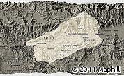 Shaded Relief 3D Map of El Progreso, darken