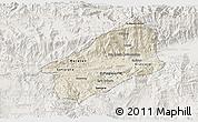 Shaded Relief 3D Map of El Progreso, lighten