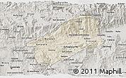Shaded Relief 3D Map of El Progreso, semi-desaturated