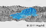 Political Shades Panoramic Map of El Progreso, desaturated