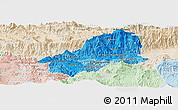 Political Shades Panoramic Map of El Progreso, lighten