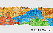 Political Shades Panoramic Map of El Progreso