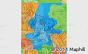 Political Shades Map of El Quiche