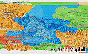 Political Shades Panoramic Map of El Quiche