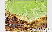 Physical 3D Map of Uspantan
