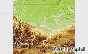 Physical Map of Uspantan