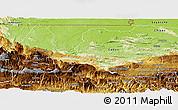 Physical Panoramic Map of Uspantan