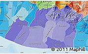 Political Shades Map of Escuintla