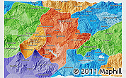 Political Shades 3D Map of Guatemala