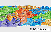 Political Shades Panoramic Map of Guatemala
