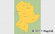 Savanna Style Simple Map of Guatemala, cropped outside