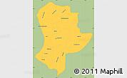 Savanna Style Simple Map of Guatemala, single color outside