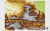 Physical 3D Map of Huehuetenango