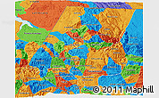 Political 3D Map of Huehuetenango