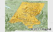 Savanna Style 3D Map of Huehuetenango