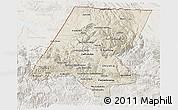 Shaded Relief 3D Map of Huehuetenango, lighten