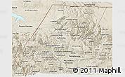 Shaded Relief 3D Map of Huehuetenango