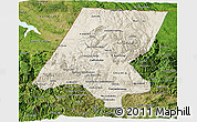 Shaded Relief 3D Map of Huehuetenango, satellite outside