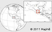 Blank Location Map of Huehuetenango