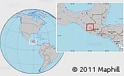 Gray Location Map of Huehuetenango