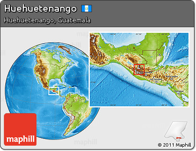 Physical Location Map of Huehuetenango