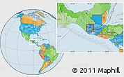 Political Location Map of Huehuetenango