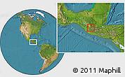 Satellite Location Map of Huehuetenango