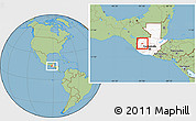 Savanna Style Location Map of Huehuetenango, highlighted country