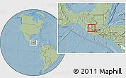 Savanna Style Location Map of Huehuetenango, hill shading